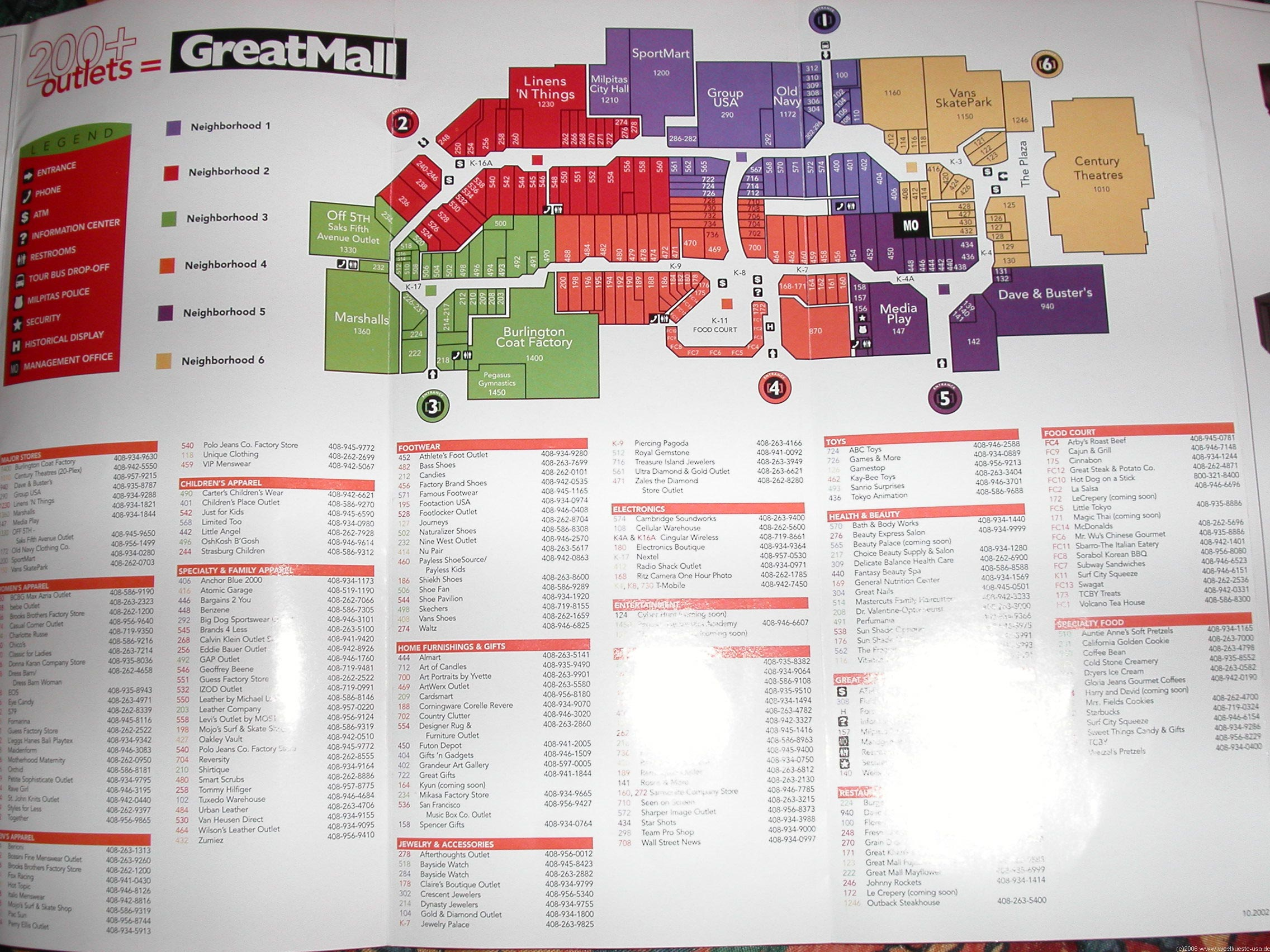 Great Mall Milpitas Directory Map My Blog - San jose great mall map