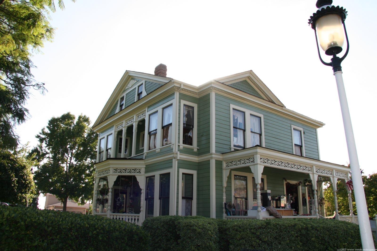 San Diego Heritage Park Viktorianische Hauser Der Old Town