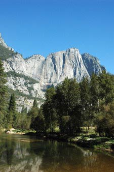 Upper Yosemite Fall, Merced River, Yosemite, Kalifornien