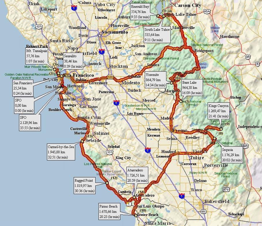 Tour California Pasadena Route
