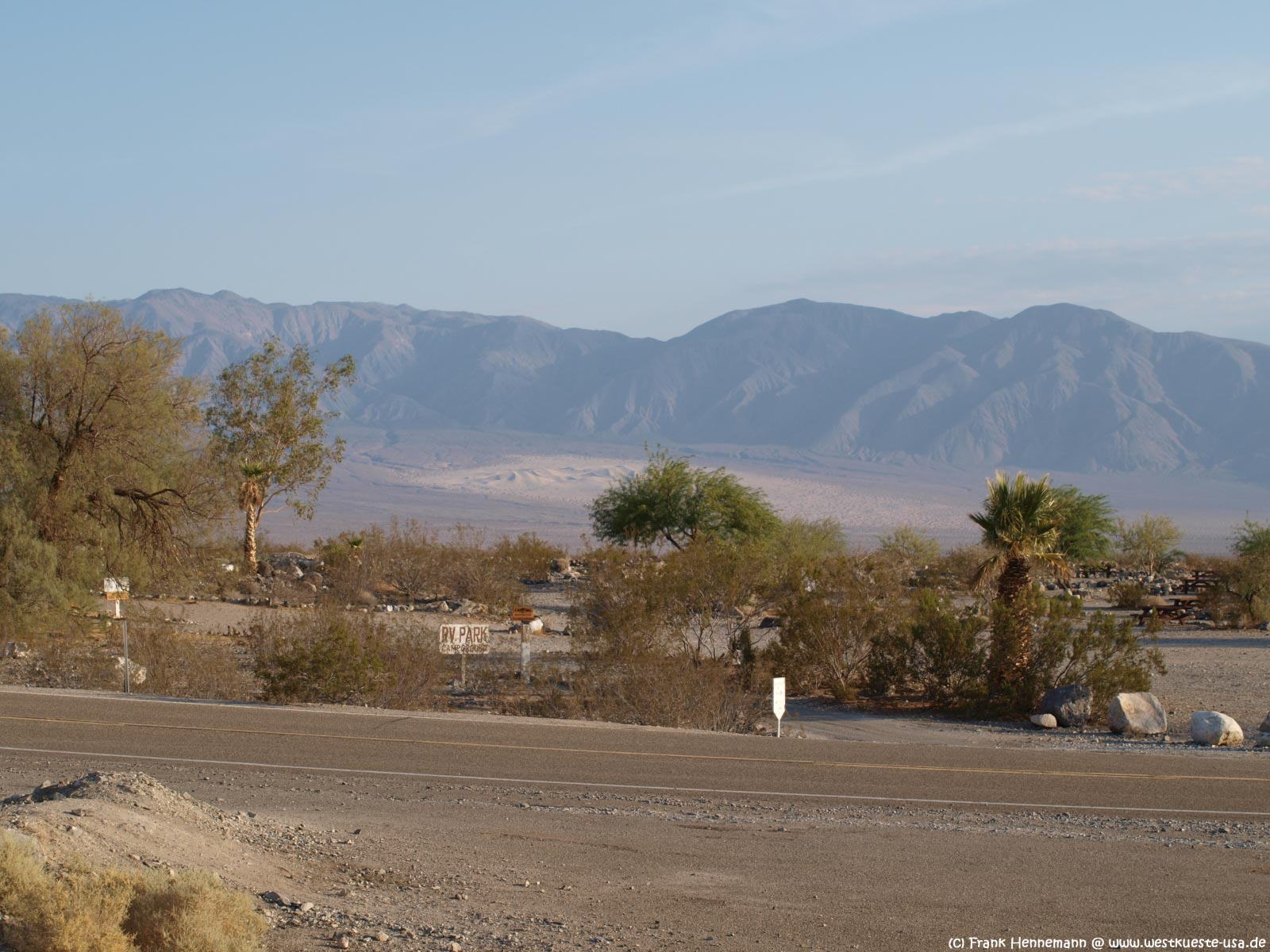 Panamint Springs Und Stovepipe Wells Im Death Valley