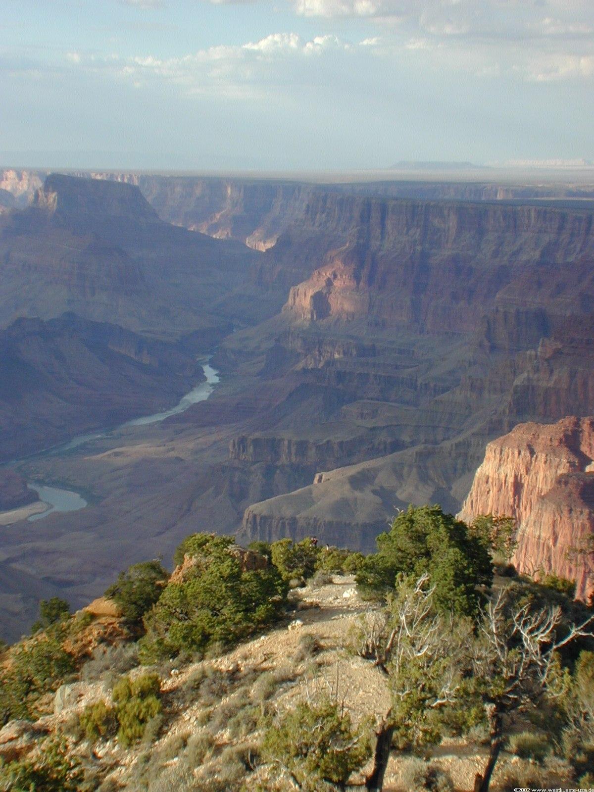 Grand Canyon Nationalpark Desert View Point Mit Watchtower