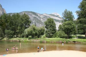 Merced River, Leidig Meadow, Yosemite, Kalifornien
