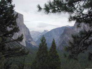 El Capitan, Half Dome, Bridalveil Fall, Tunnel View, Yosemite, Kalifornien