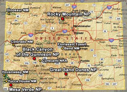 Colorado Karte Fluss.Bundesstaat Colorado The Centennial State